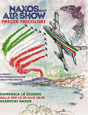 Manifesto Naxos Air Show 2017 Frecce Tricolori