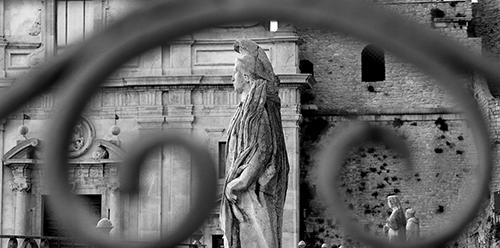 """Caccamo (PA) - """"U chianu â Matrici"""" (Piazza Duomo) - Statua di San Nicasio Martire_Alfio Barca"""