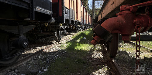 Villarosa (EN) - Stazione Ferroviaria - Treno Museo - Vagoni del 1943 (XXI) probabilmente usati per il trasporto dei civili nei campi di sterminio nazisti_Anna Lea Steccanella